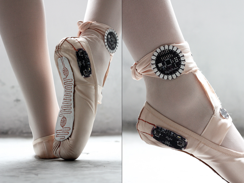 E-Traces: Zapatillas de ballet que crean dibujos a partir del movimiento de la danza