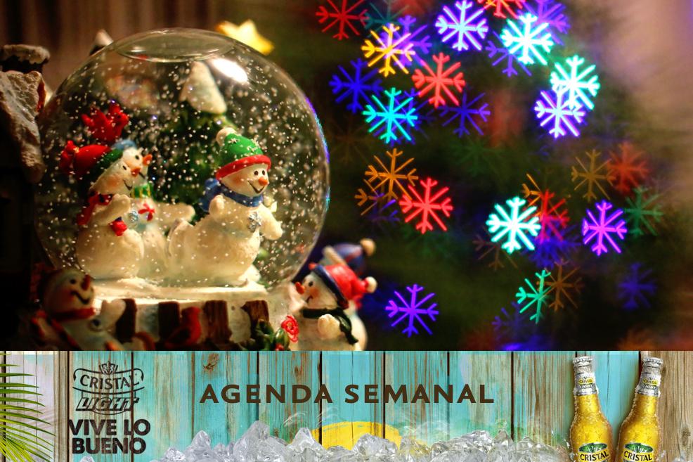 Agenda Cristal Light: Panoramas del 25 al 28 de diciembre