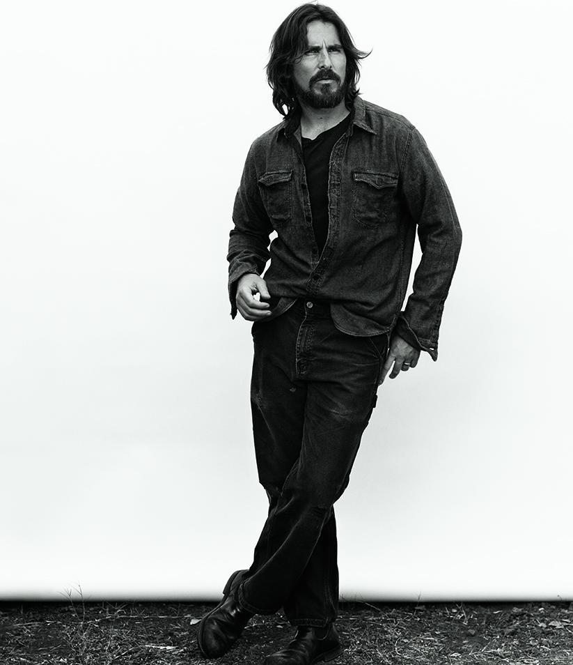 Christian Bale en blanco y negro por Mikael Jansson, 2014