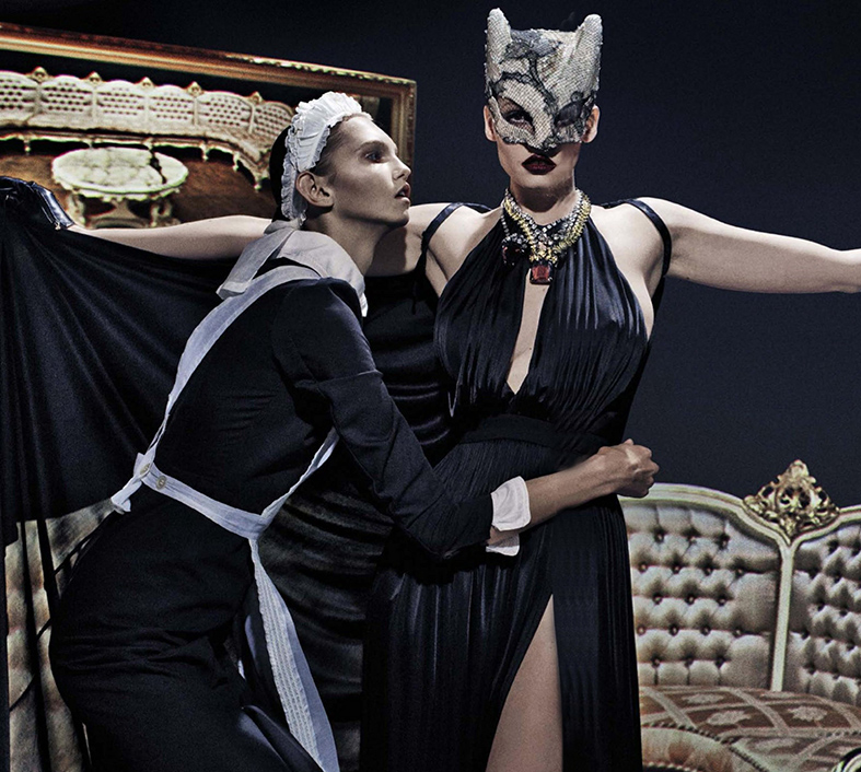 Lara Stone a lo Belle de Jour para Vogue Italia, 2015