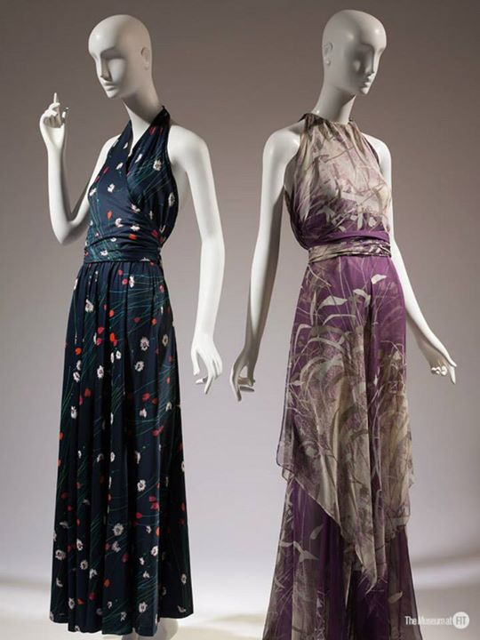 "La exhibición ""YSL + Halston: Fashionising the 70's"" en el FIT"