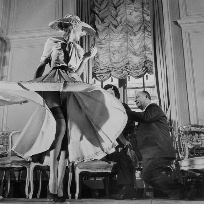 Dior y la celebración tras el lanzamiento de su primera colección