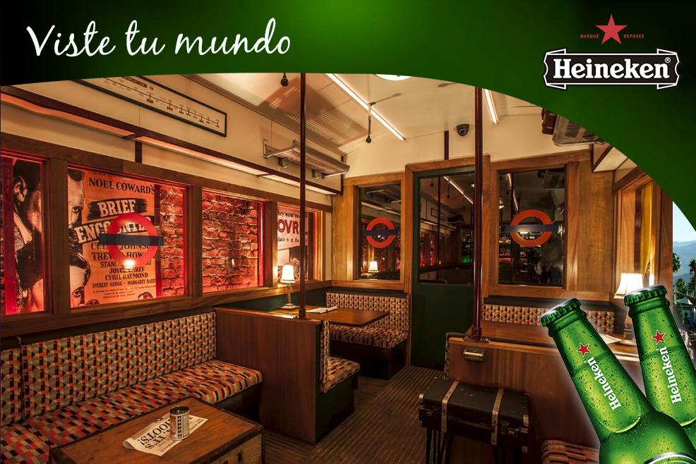 VisteTuMundo por Heineken: Cahoots, el bar londinense inspirado en el metro