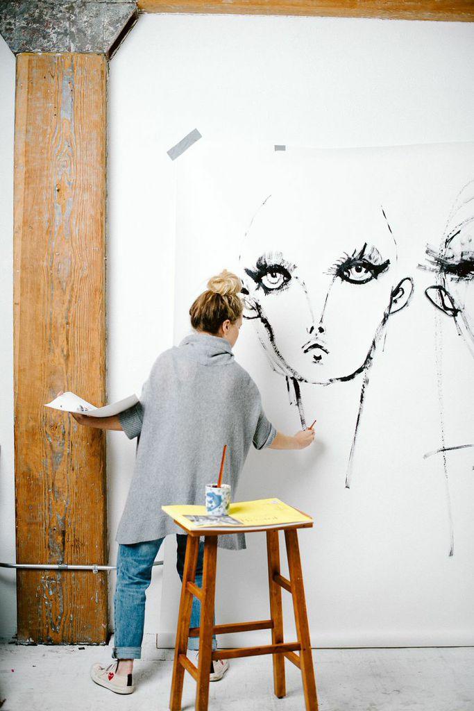 Pinceladas de color en las ilustraciones de moda de Blair Breitenstein