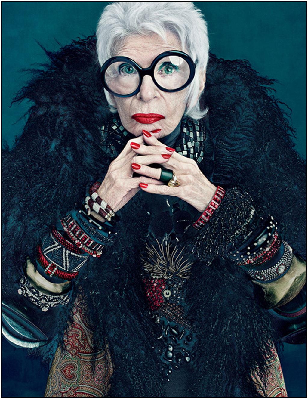 El estilo de Iris Apfel a sus 93 años y el documental que retrata su vida