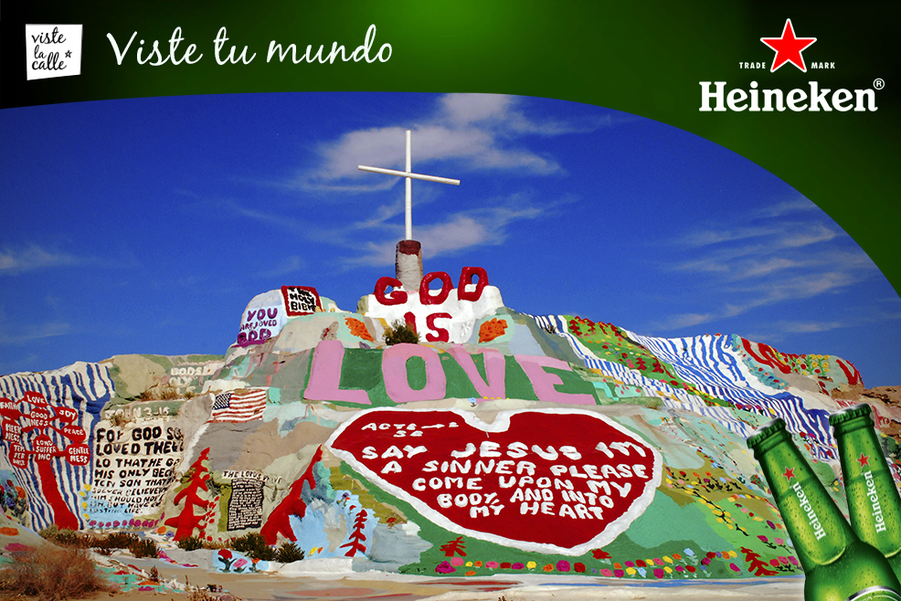 #HeinekenLife: Salvation Mountain, un colorido santuario