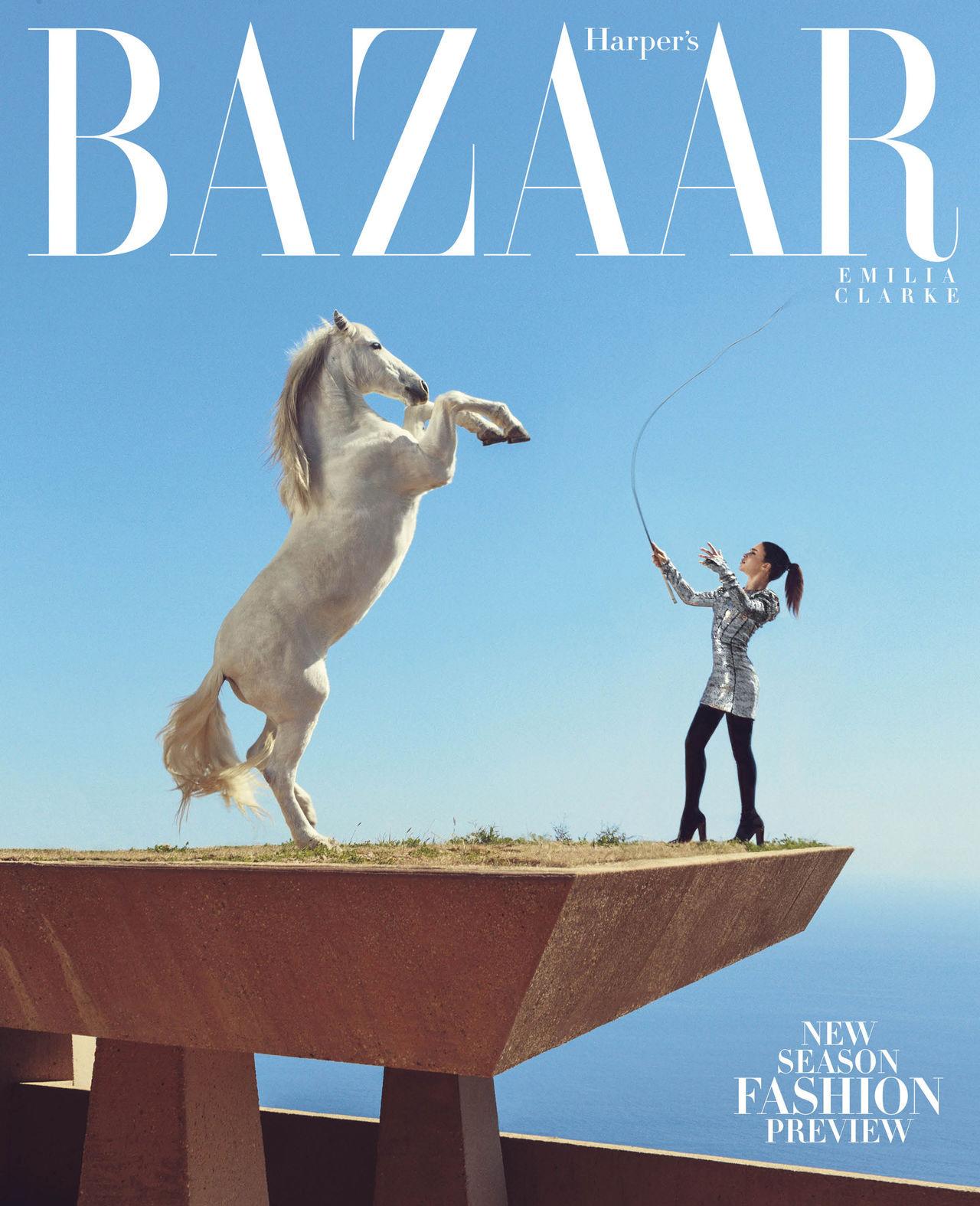 La majestuosa Emilia Clarke en Harper's Bazaar junio/julio 2015