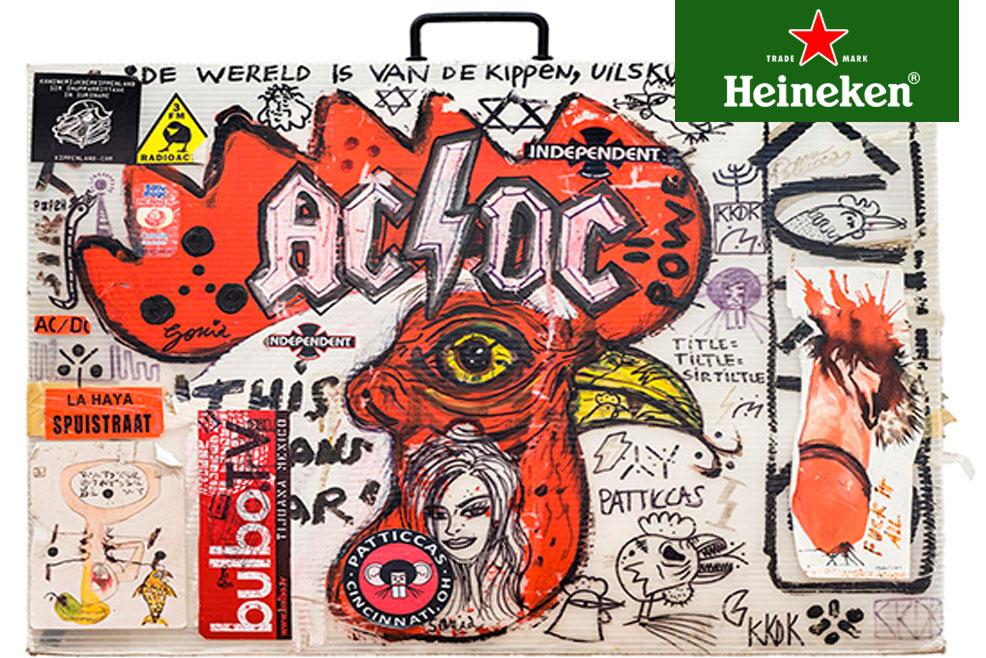 La obra rockera de Abdul Vas en el MAC de Quinta Normal #HeinekenLife