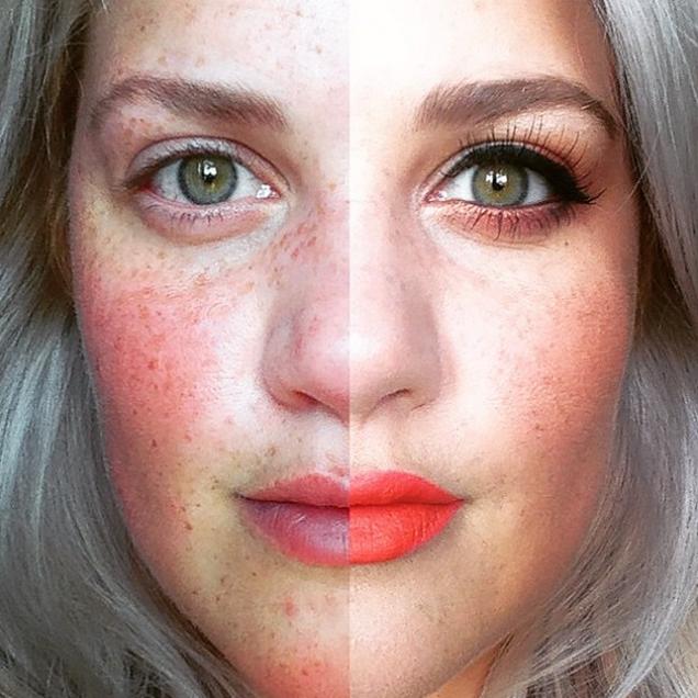 #ThePowerOfMakeup, el hashtag bajo el que las mujeres maquillan sólo la mitad de su rostro