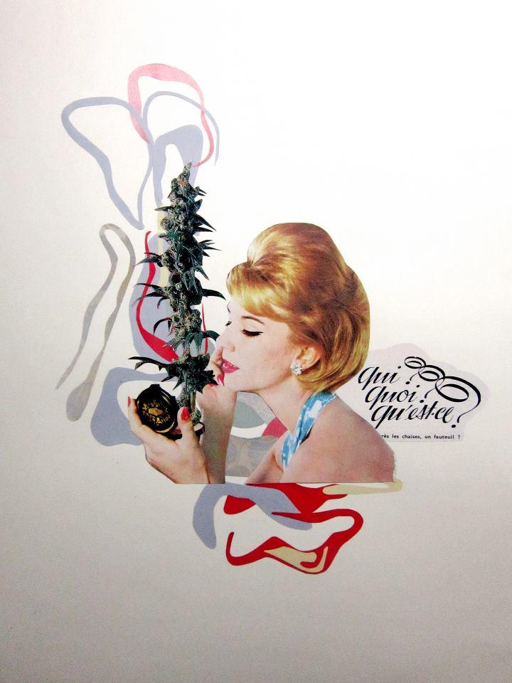 Entre tijeras y papel: Los collages de Mila González