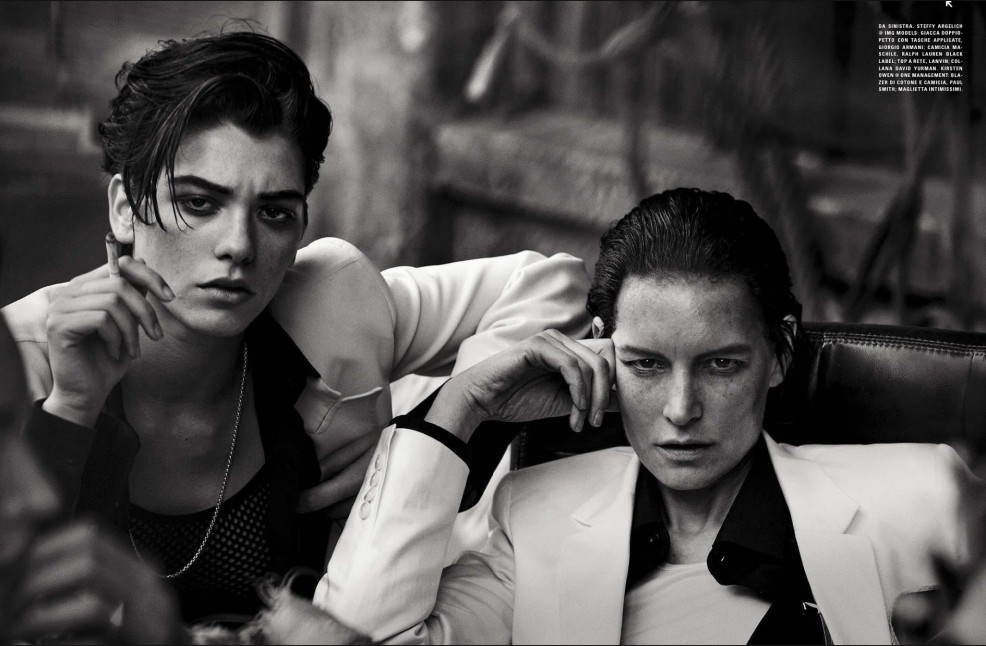 Un estilo masculino/femenino en Vogue Italia, 2015