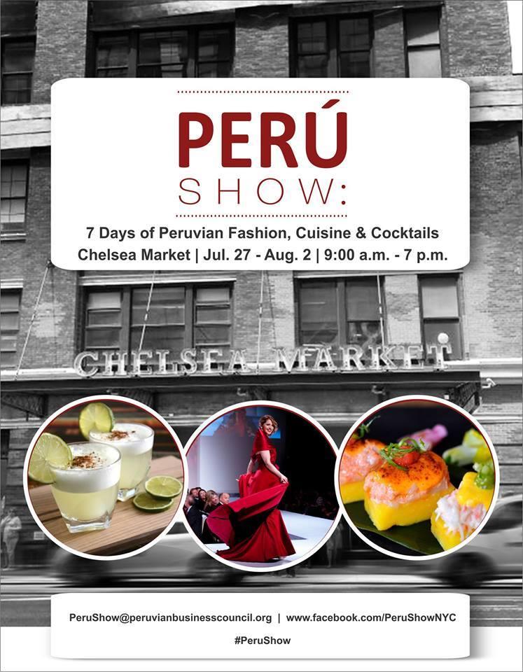 #VLCNewYork: PeruShow, el evento que reunirá lo mejor del diseño, la artesanía y la cocina peruana en Chelsea Market