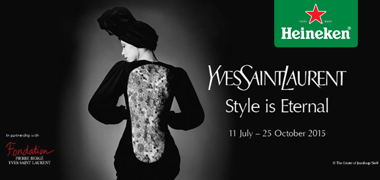 """""""YSL: Style is eternal"""", la exhibición del diseñador en Gran Bretaña #HeinekenLife"""