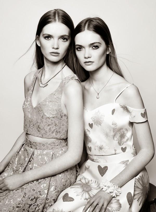 Las gemelas Ruth y May Bell, la nueva sensación del modelaje