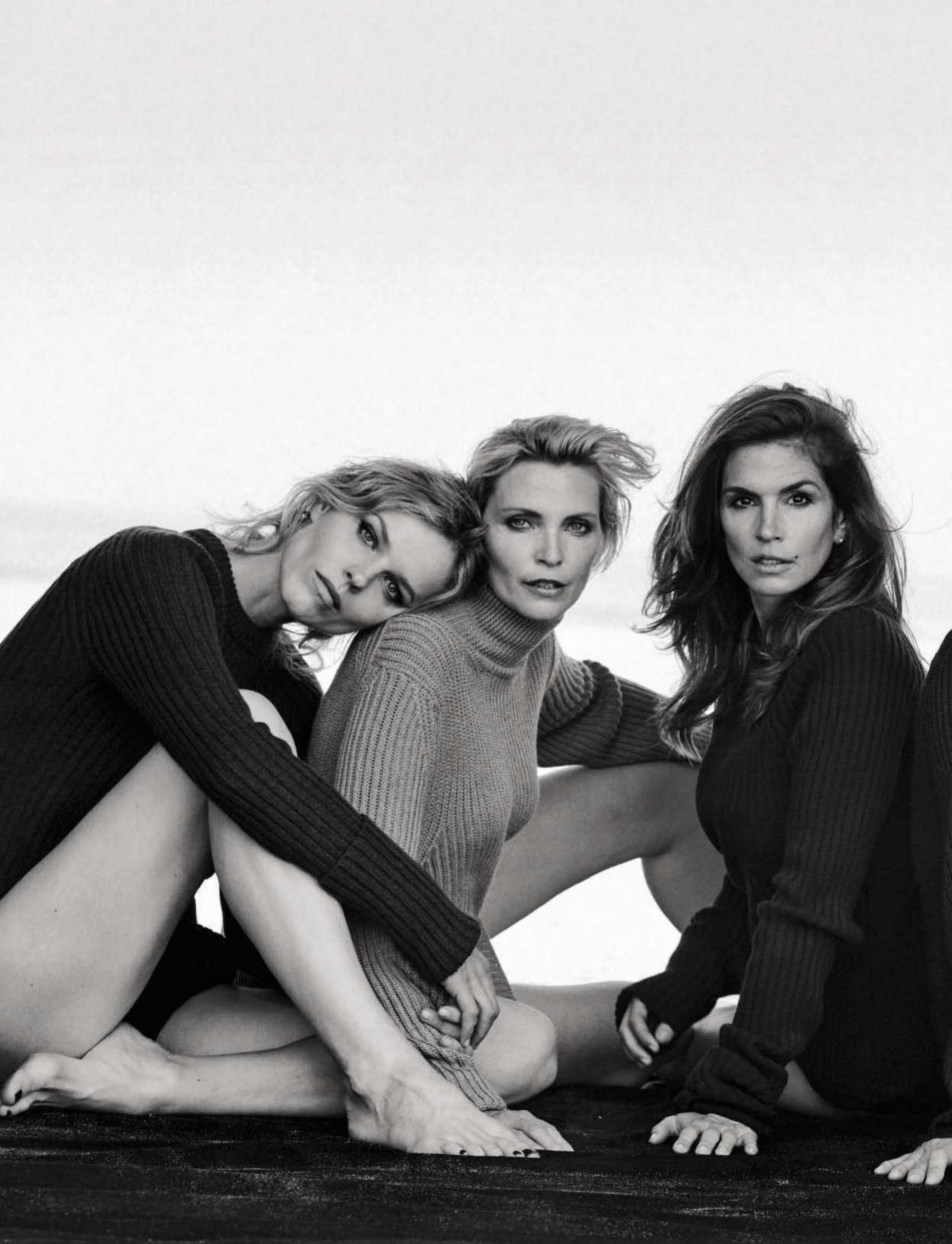 Las supermodelos de los '90 regresan con Peter Lindbergh, 2015