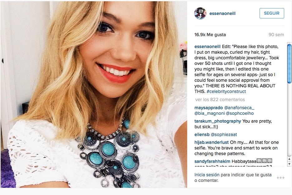 Essena O'Neill, la estrella de Instagram que se aburrió de la fantasía