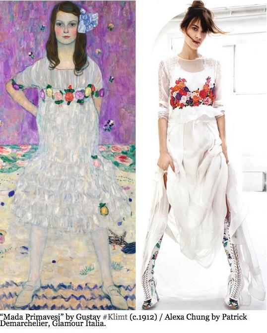 @ArtlexaChung, la cuenta de Instagram que compara el estilo de Alexa Chung con el arte