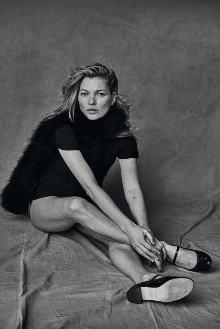 Kate Moss sin Photoshop por Peter Lindbergh, 2015