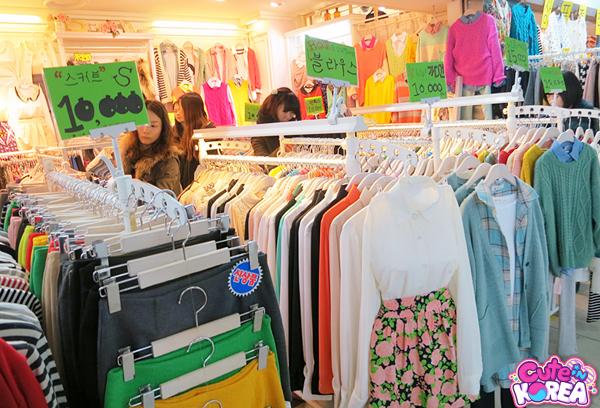Shopping por las calles de Seúl en Corea del Sur