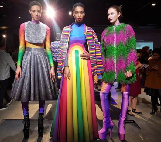 El diseñador Matías Hernán presentó su colección Digital Couture Project para Epson en el marco de New York Fashion Week F/W 2016