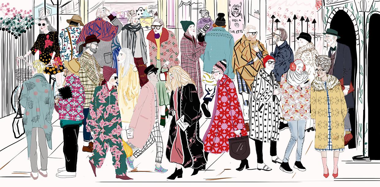 Ilustración de moda a partir de Louise's Project, la firma de la ilustradora colombiana Luisa Castellanos