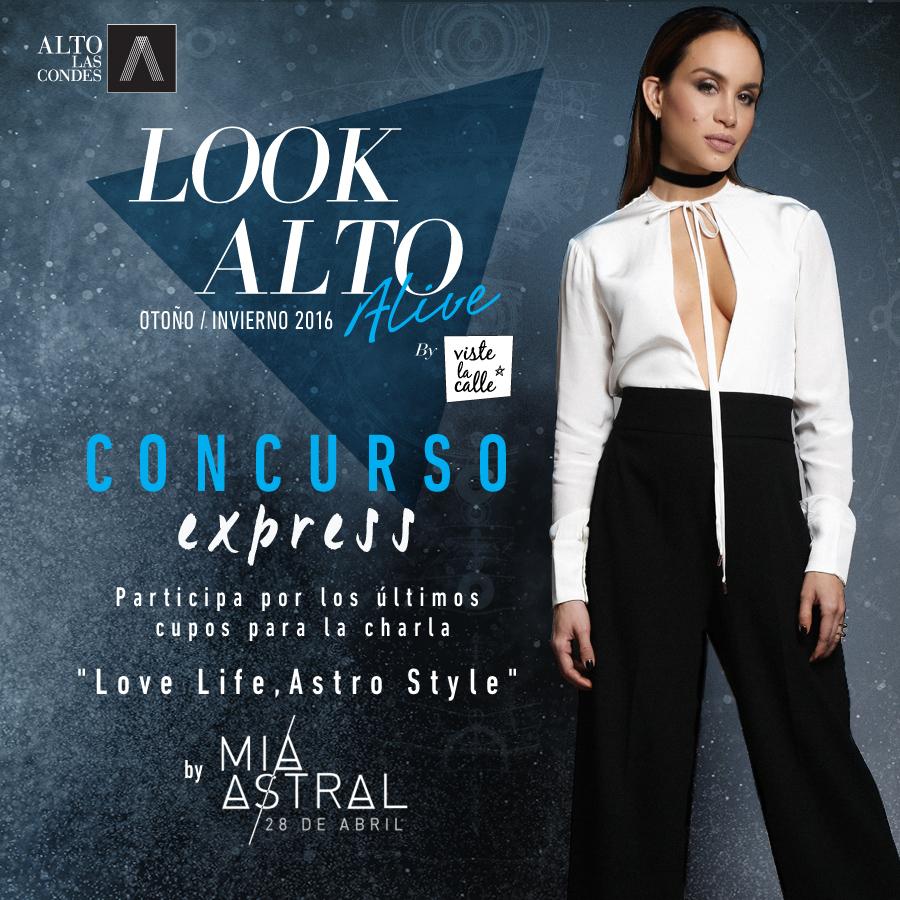 ¡Concurso Express! Sorteamos los últimos cupos para la charla de Mía Astral este jueves 28 de abril en Look Alto Alive