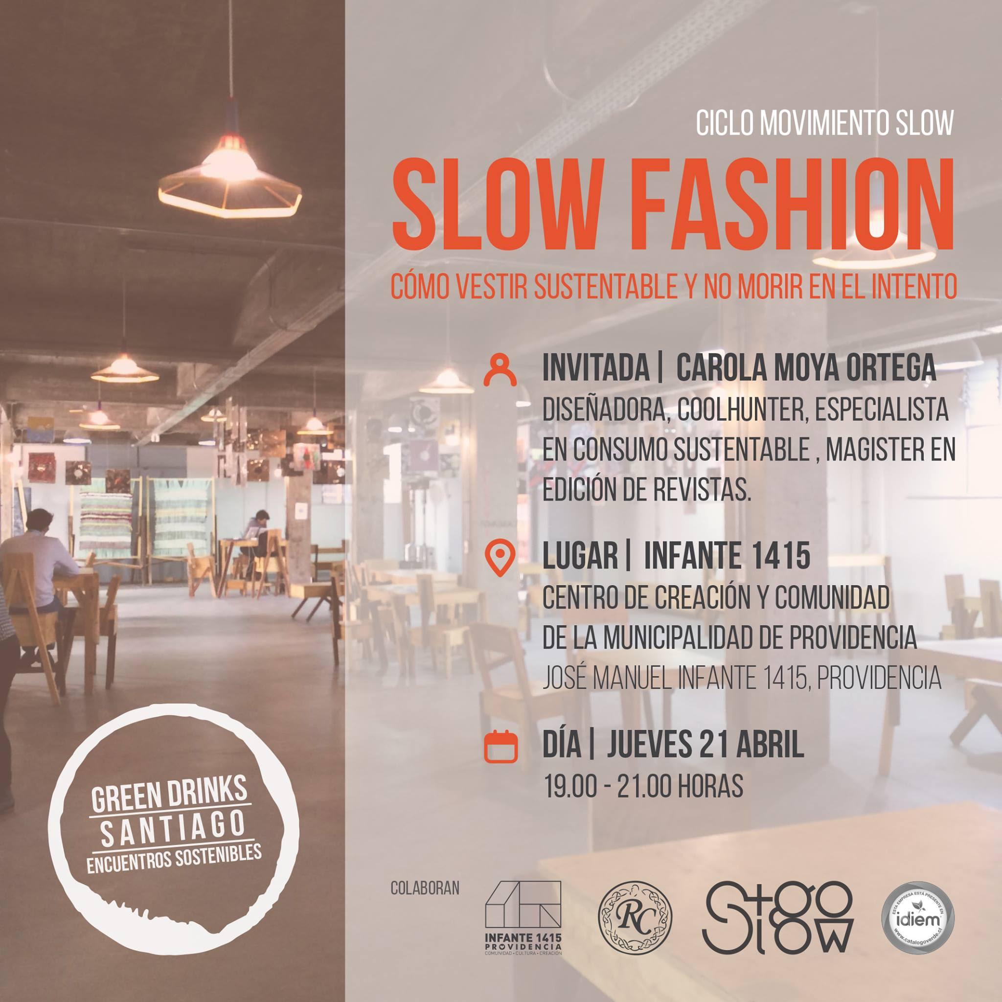 """Este jueves: Charla Slow Fashion """"Cómo vestir sustentable y no morir en el intento"""" en Green Drinks"""