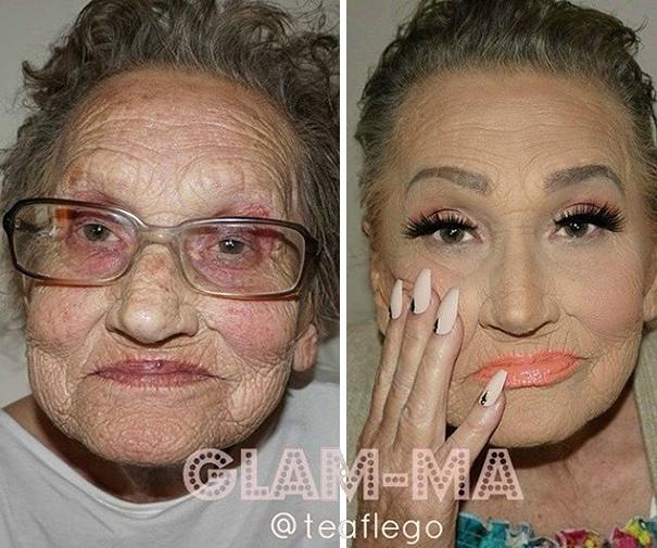 Glam-Ma, la abuela revelación de Instagram que protagoniza tutoriales de maquillaje