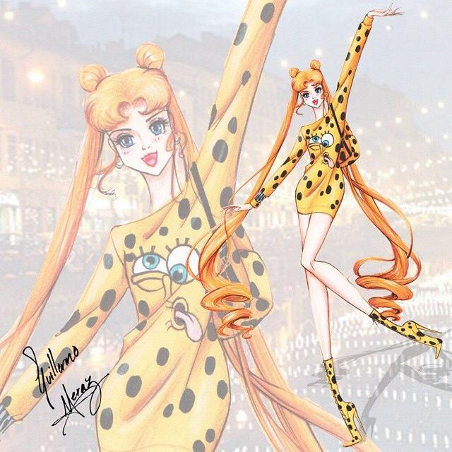 Alta costura y dibujos animados en las ilustraciones de Guillermo Meraz