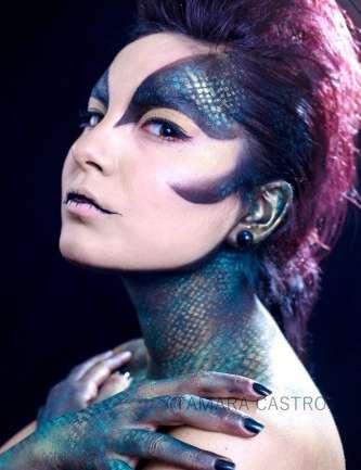 """Entrevista a Tamara Castro, maquilladora de efectos especiales: """"Maquillar es una profesión bella, pero en Chile hay quienes lo ven como un lujo y otros quienes creen que no es lo suficientemente relevante"""""""