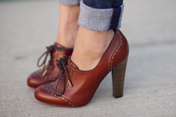Inspiración visual: Cómo usar zapatos oxford este invierno