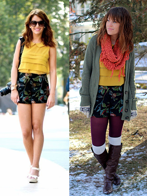 Tips para usar tus prendas de verano en invierno