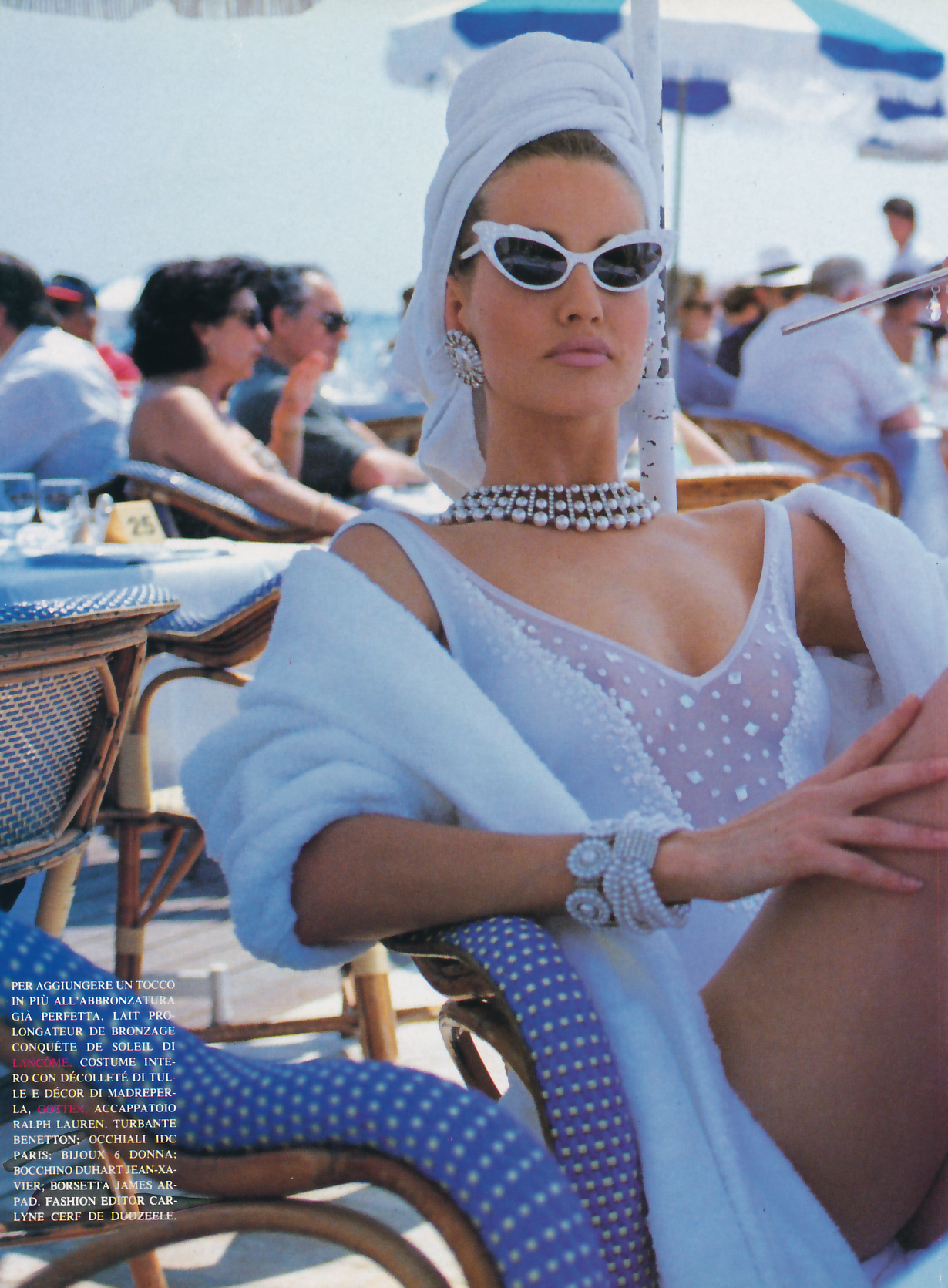Flashback: Karen Mulder en Cannes, 1991