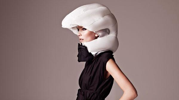 #Hövding, el casco de bicicleta perfecto para una fashionista