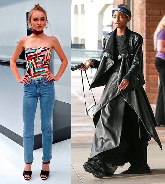 Versus de estilo: Willow Smith & Lily-Rose Depp