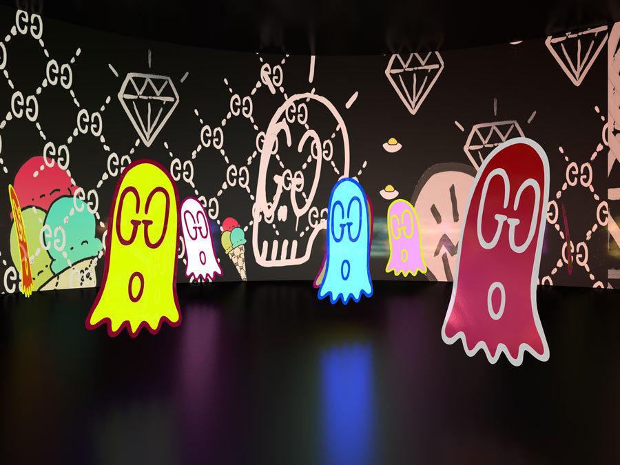 """""""Gucci 4 Rooms"""": Una mirada al interior de la instalación de arte de Gucci en Tokio"""