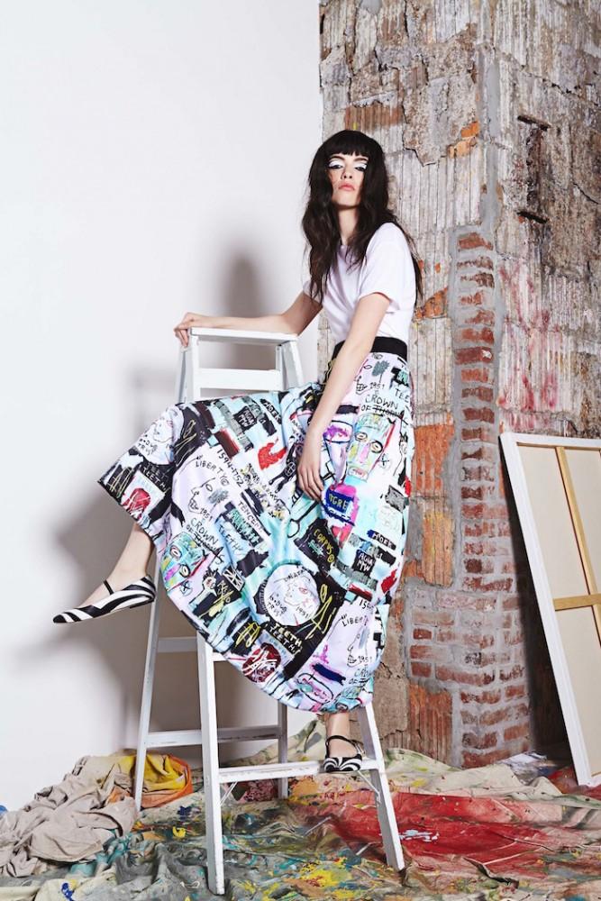 La colección cápsula de Alice + Olivia inspirada en Basquiat