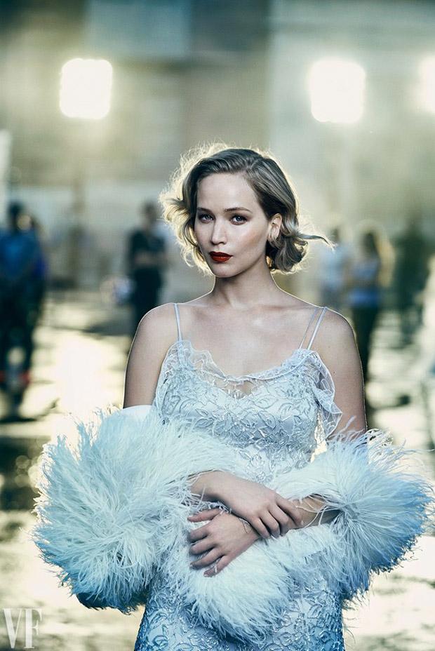 Jennifer Lawrence como una estrella de cine para Peter Lindbergh