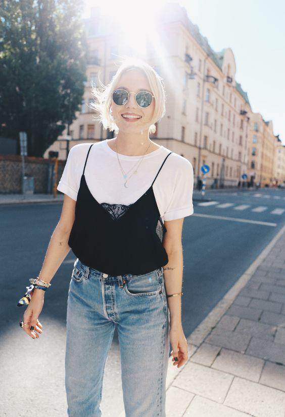 Inspiración visual: Cómo armar un look casual con prendas de lencería