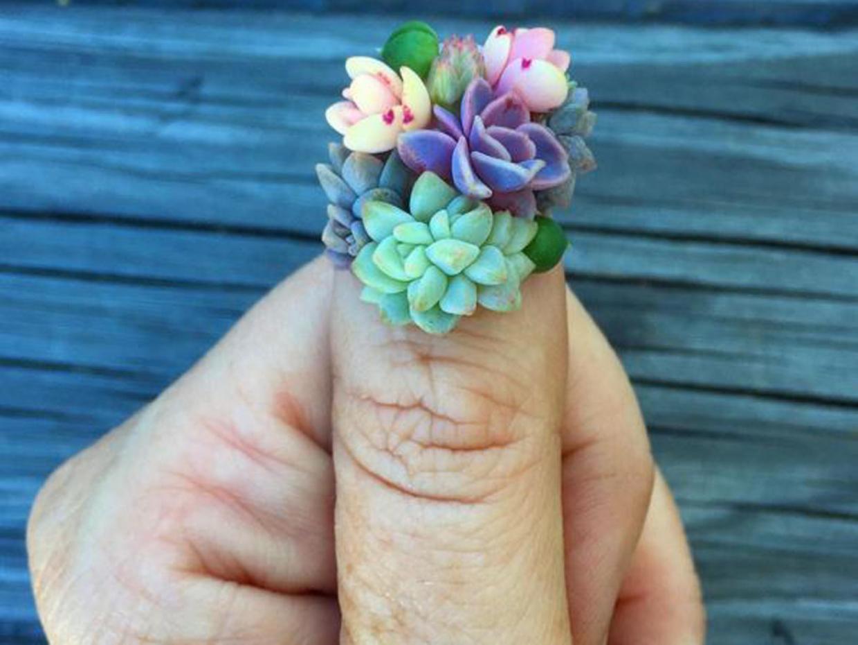 Estas uñas de suculentas llevan el nail art a otro nivel