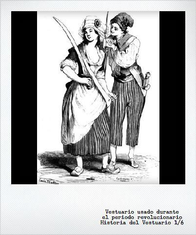 Revolución Francesa: también en el vestuario