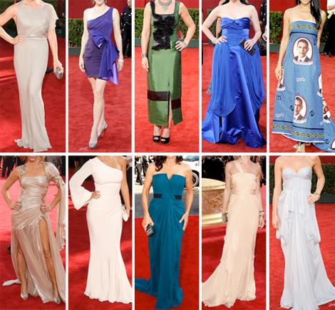Las mejores vestidas de los Emmy 2009