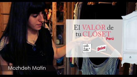 El Valor de tu Clóset Perú: Mozhdeh Matin