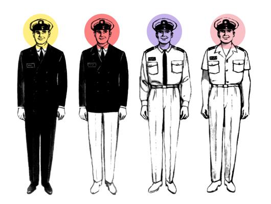 Diseñadores en uniformes