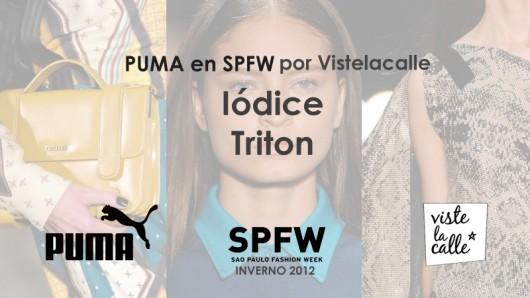 Puma en SPFW por VisteLaCalle: Iódice y Triton