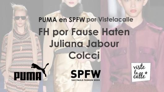 Puma en SPFW por VisteLaCalle: FH por Fause Haten, Juliana Jabour y Colcci