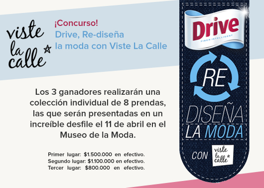 """Gran concurso: """"Drive Re Diseña la Moda"""""""
