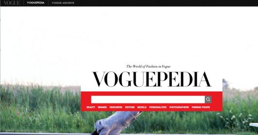 Voguepedia: el nuevo Google de la moda