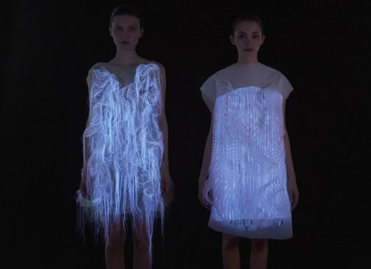 Diseño, textil y tecnología: Los lúdicos vestidos de Ying Gao