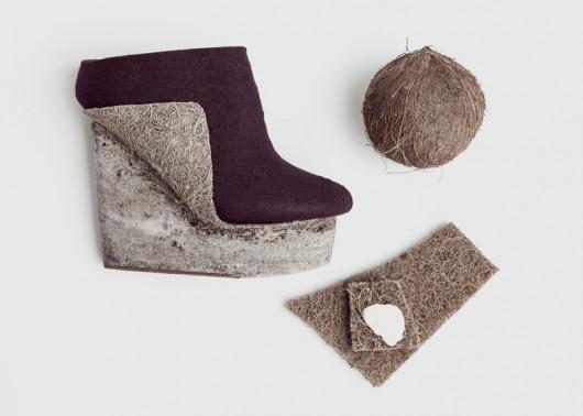 Natural Selection: Zapatos de materiales naturales y alternativos